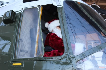 They had Santa flying the copter