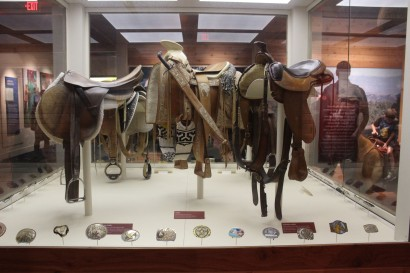 One of the coolest rooms had several saddles and belt buckles
