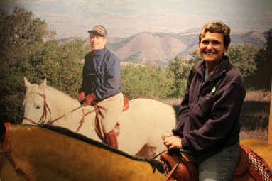 And could take a picture with yourself riding with President Reagan