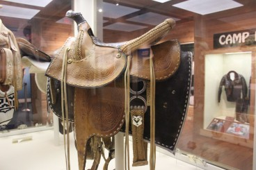 This saddle was gifted to him by Gorbachev. I wonder if he ever used it?