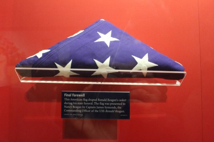The flag presented at his funeral