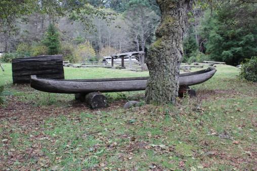 Handcarved Canoe