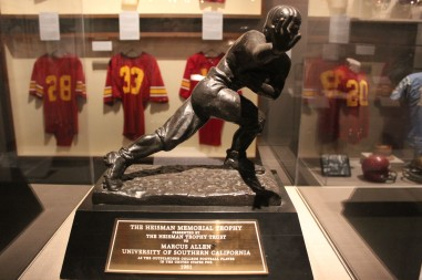 I got chills when I saw this MArcus Allen Heisman trophy