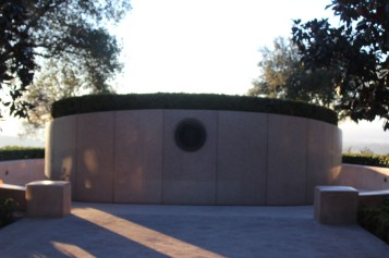 The back of the grave