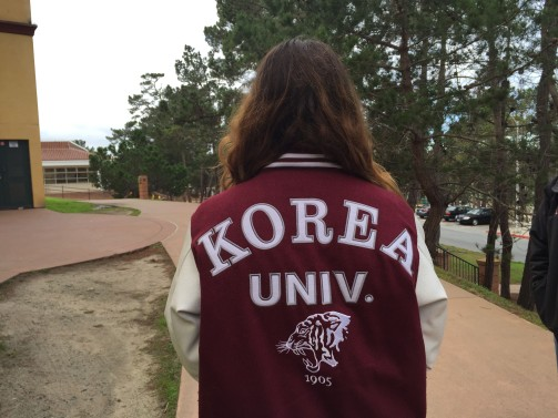 Kay just got back from a 1-month immersion experience in Korea and since she attended Korea University got this very cool jacket