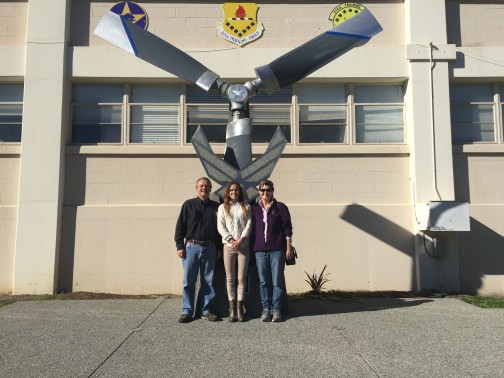 A nice person took our picture in front of where the airmen are promoted