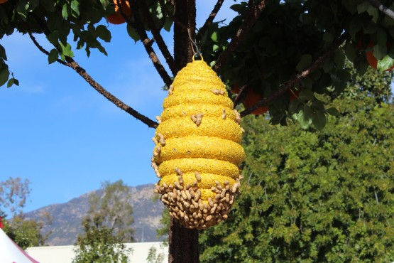 Loved how they used peanuts to simulate bees. Even up close you had to look twice