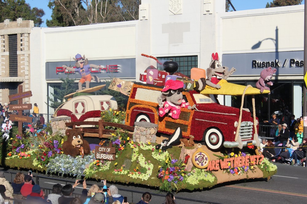 Contrarily the City of Burbank float was amazing and one the Theme award