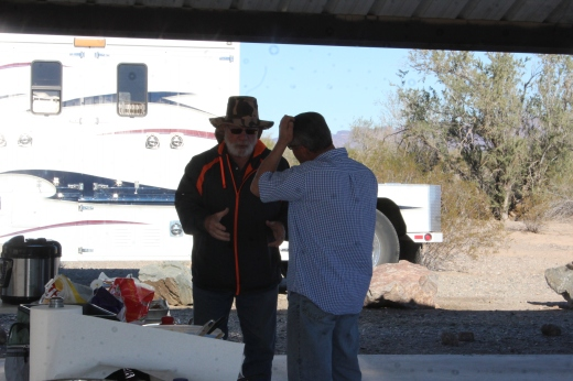 Lee talking to Bob and looking a little confused. Conincidentally we have been two steps behind Bob since we left the reunion rally, and it was nice to see him again.