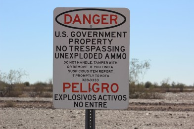 The signs along the dirt road were a little scary though. Definitely no wandering off the path