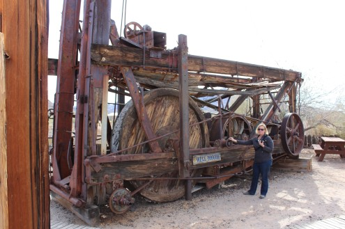 Huge mining equipment. I made Cori stand there for scale