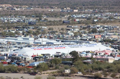 The big tent of the RV show