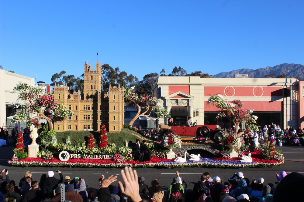 PBS made this float to celebrate the last season of Downtown Abbey