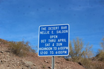 The Desert bar sign