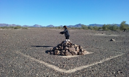 We found this mound of rocks in the desert no clue what it's for
