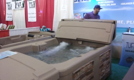 We all admired the hot tubs but not very practical