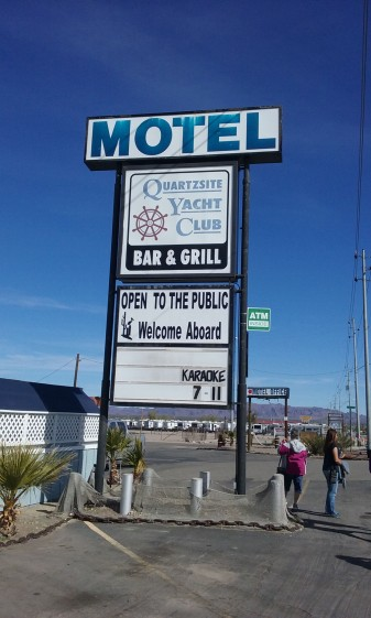 The motel sign adds a special ambiance to the site