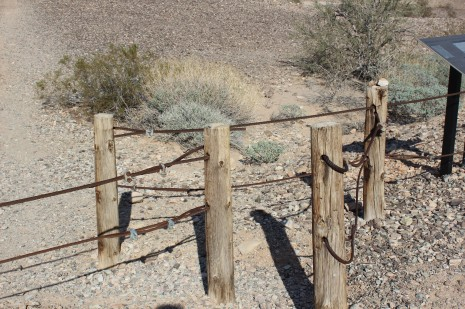 The entrance to the gate is carefully constructed so only walkers can get through