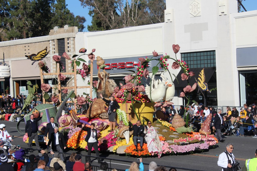 This rotary club float was small but packed a punch