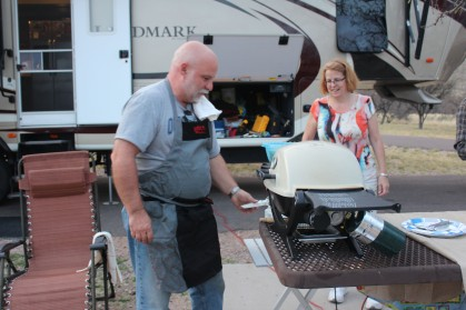 Bill and Kelly cooking