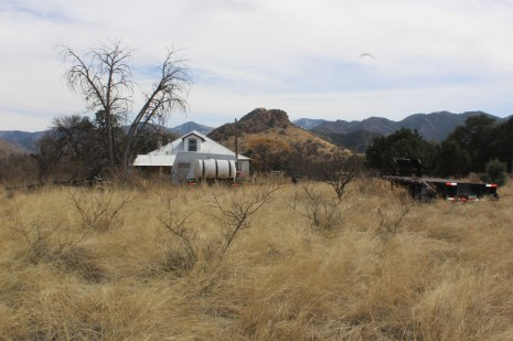 The ranch house of the folks who own the property