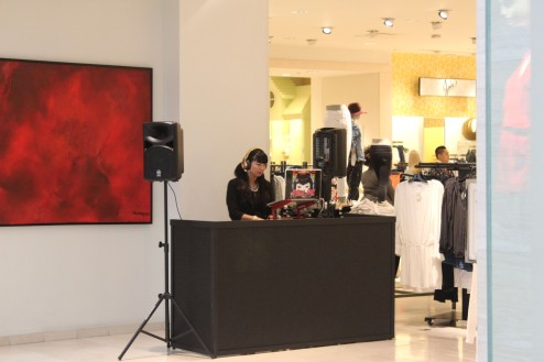 The had a DJ playing at Nieman Marcus. First time I have ever seen that