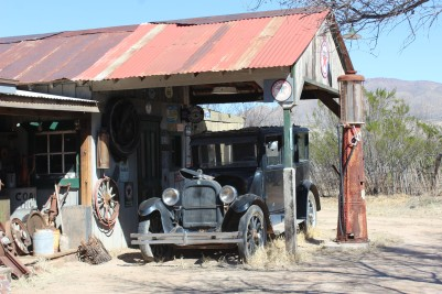 He has numerous old cars in various stages of repair which Bill liked