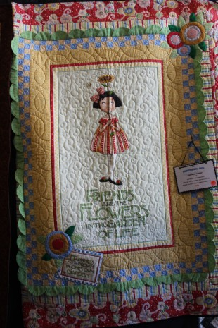 I enjoyed a quilt show they were having in town