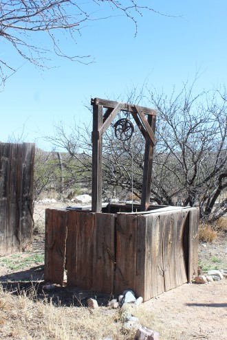 This well is a movie prop and can be moved throughout the town