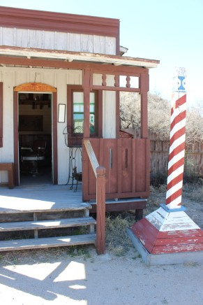 I loved the barber pole which he made exactly like the most common poles of the time