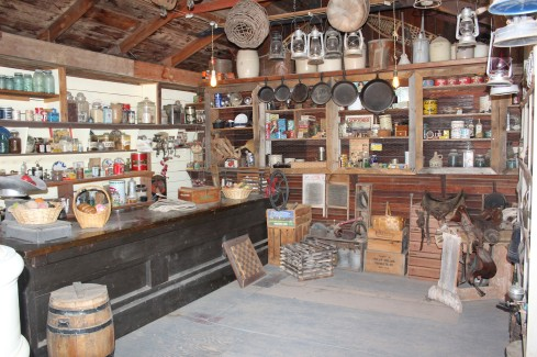 The general store was full of items collected or donated