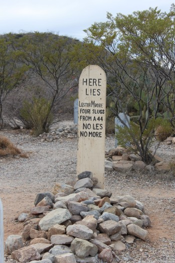 This same headstone is in the movie Tombstone. When they are pulling into town it's in the shot