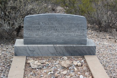 And this grave was erected for an African American solider who lived in the town