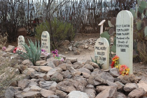This was the grave of the three men killed at the OK Corral