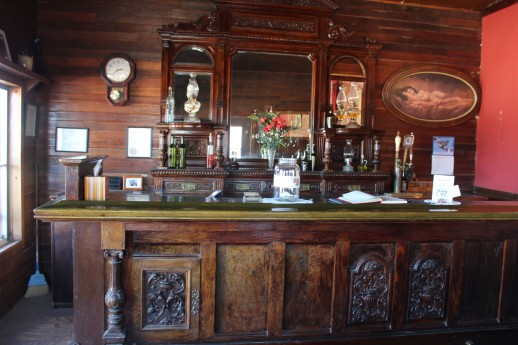 This beautiful bar was an original and I loved the picture to the right, which he hurredily explained to me was art. I actually agree. BEautiful painting