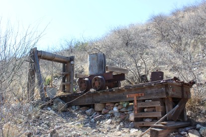 We walked up the hill to an old mine recreation