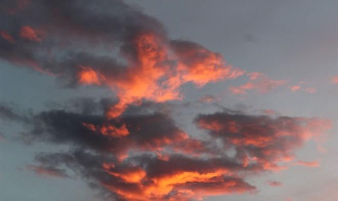 Beautiful sunset that night