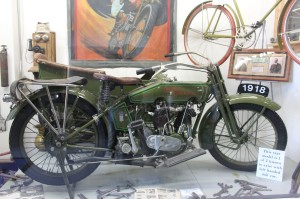 Very cool old Harley only one of two made that year with a left hand side car