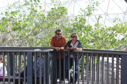 Greg and Cori listening to the tour guide
