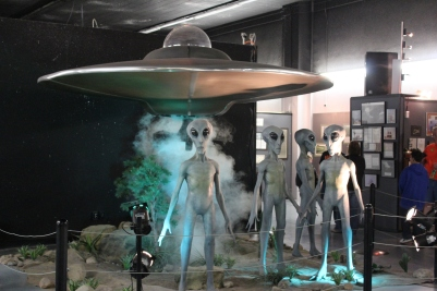 The UFO exhibit in the back. Occasionally it blows smoke and stuff
