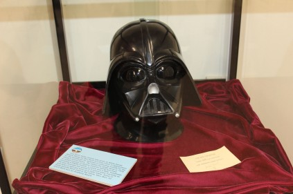 This Darth Vader helmet was presented to the base because some of the sound effects for Star Wars were gathered here