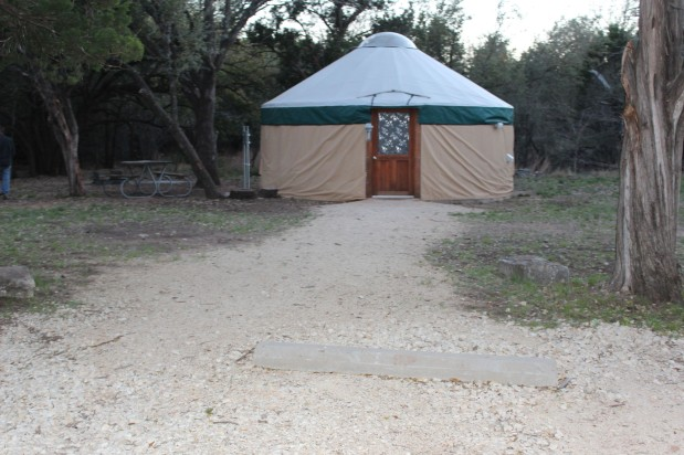 They did have very cool heated yurts for people to stay in