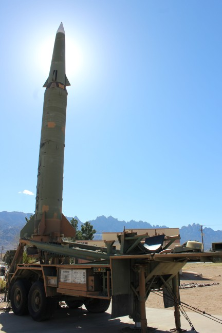This Pershing missile I actually recognized because our friend Larry drove these around Germany in the 80's
