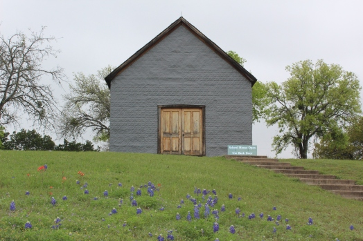 The one room school house where he started school