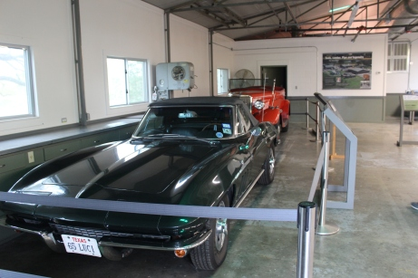 His car collection. The corvette was a gift to his daughter. Nice car