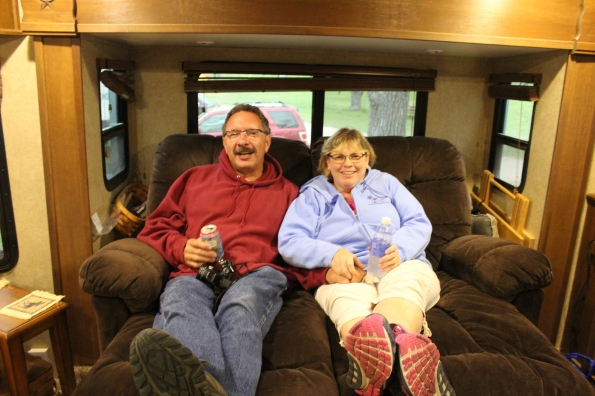 Jim and Diana hanging out on my couch