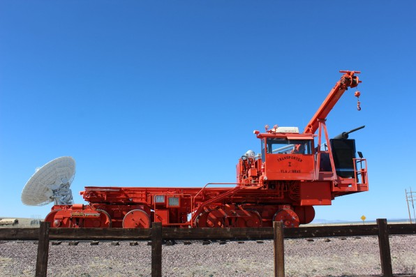 And one of the neatest things is that they move them by pulling them with this big machine along RR tracks
