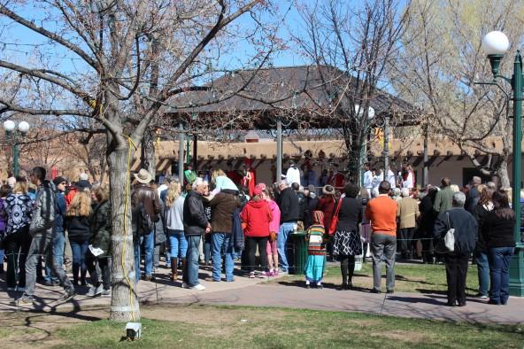 The multi-denominational ceremony in the plaza