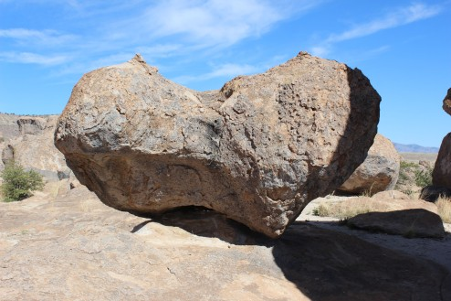 A huge heart shaped rock