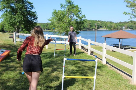 We setup ladder ball